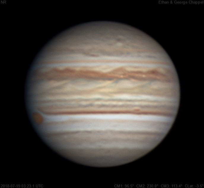 The Great Red Spot is rising.