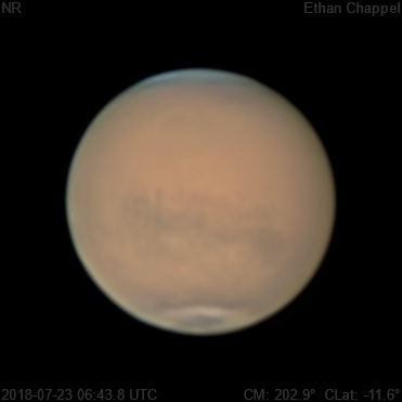 Mare Cimmerium is visible under the global dust storm.